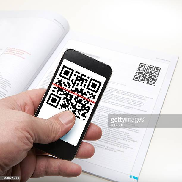 Quick Response Code on a smart phone