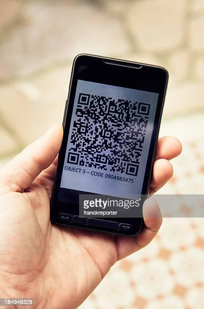 Quick response code on smartphone