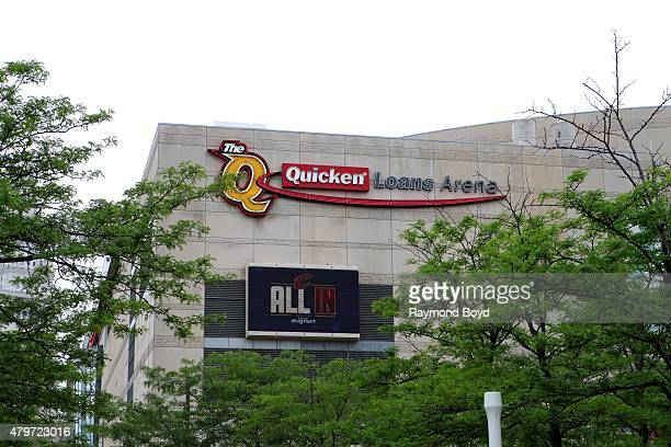 Quicken Loans Arena home of the Cleveland Cavaliers basketball team Cleveland Gladiators arena football team and Lake Erie Monsters hockey team on...