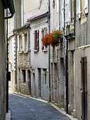 A quiet alleyway in the medieval town of Souillac