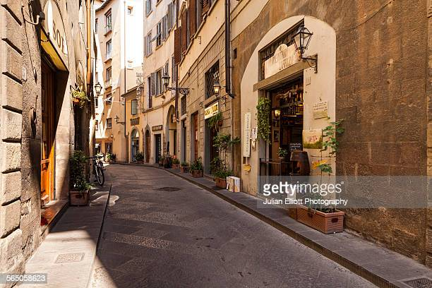 A quiet backstreet iin Florence, Italy
