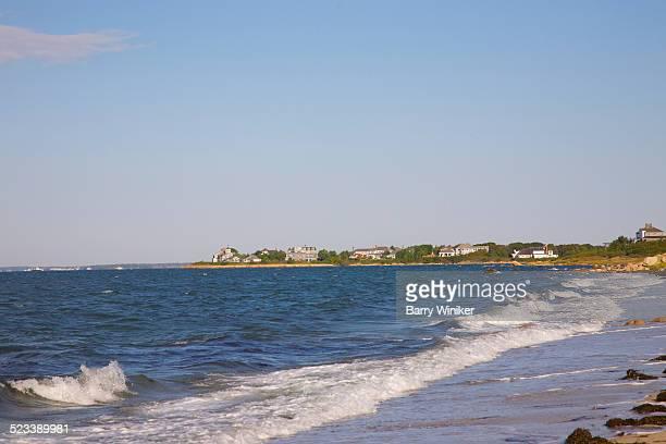 Quiet Cape Cod beach and Buzzard's Bay, Falmouth