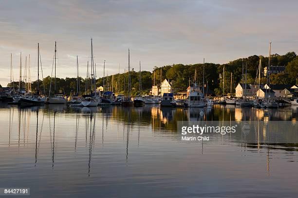 quiet harbour in New England