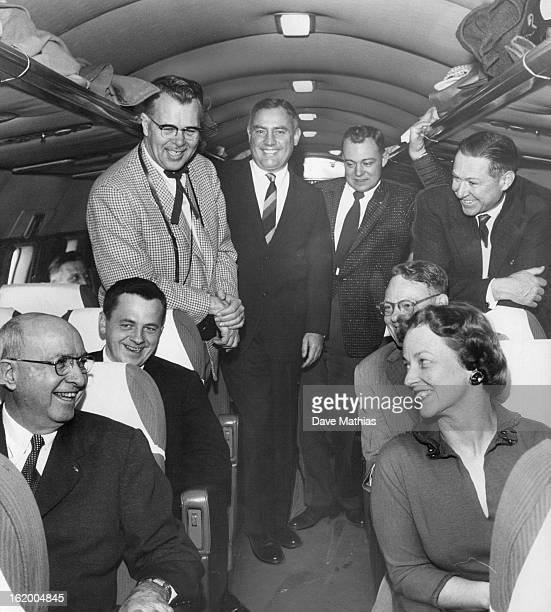 DEC 29 1956 DEC 30 1956 Quigg Newton president of the University of Colorado and the eight present and retiring regents together with Mrs Newton and...