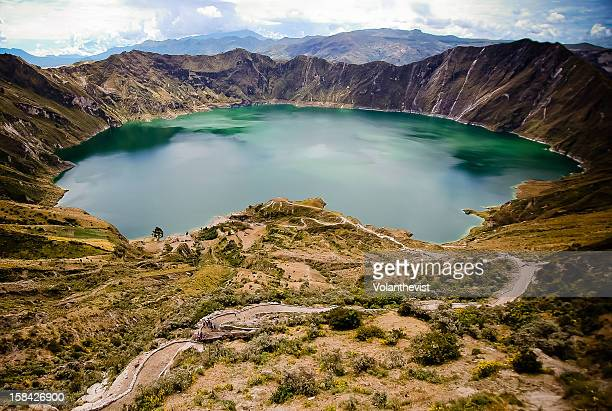 Quilotoa volcano with water-filled caldera