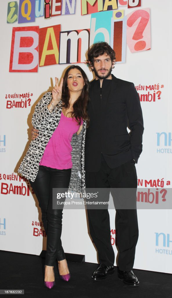 Quim Gutierrez and Ursula Corbero attend the photocall of '¿Quien Mato a Bambi?' at Hesperia Hotel on November 12, 2013 in Madrid, Spain.