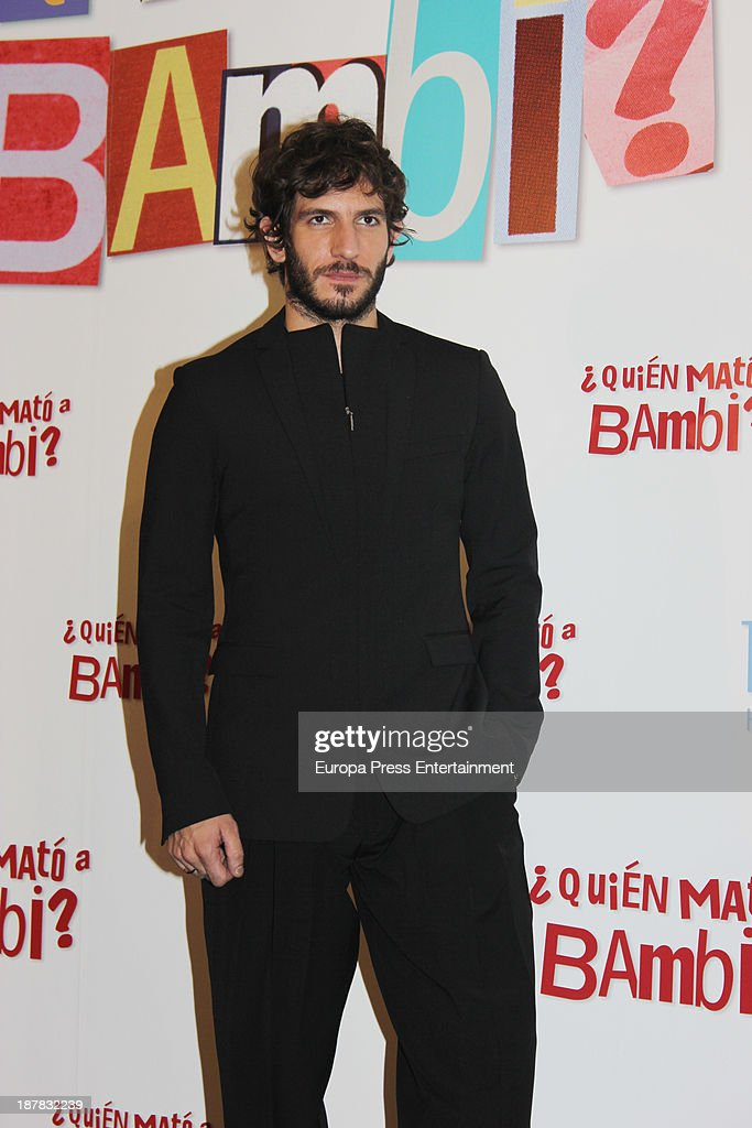 <a gi-track='captionPersonalityLinkClicked' href=/galleries/search?phrase=Quim+Gutierrez&family=editorial&specificpeople=4126293 ng-click='$event.stopPropagation()'>Quim Gutierrez</a> attends the photocall of '¿Quien Mato a Bambi?' at Hesperia Hotel on November 12, 2013 in Madrid, Spain.