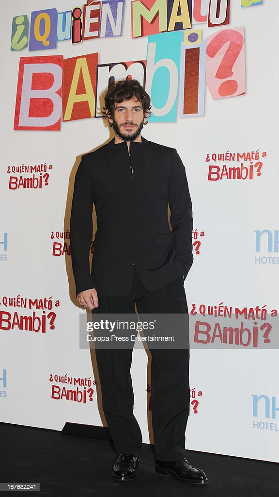 Quim Gutierrez attends the photocall of '¿Quien Mato a Bambi?' at Hesperia Hotel on November 12, 2013 in Madrid, Spain.