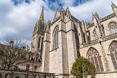 Quimper in Brittany, the Saint-Corentin cathedral