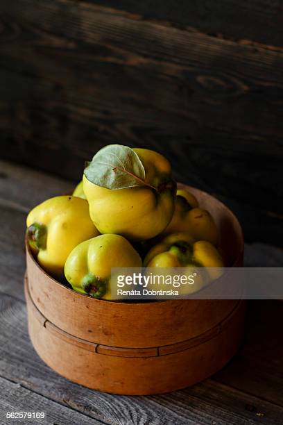 Quince on dark background