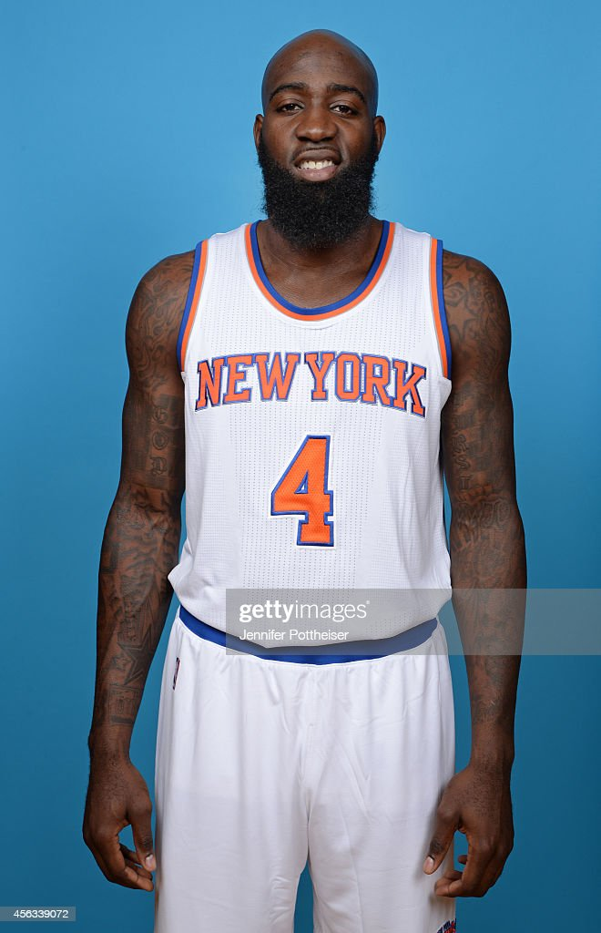 Quincy Acy #4 of the New York Knick poses during NBA Media Day at the MSG Training Facility on September 29, 2014 in Tarrytown, New York.
