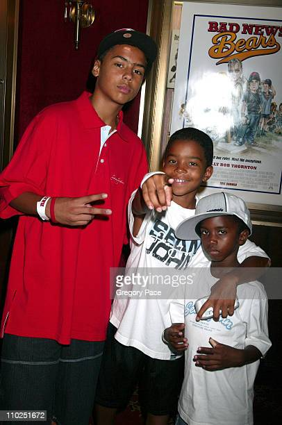 Quincy Combs Justin Combs and Christian Combs sons of Sean 'P Diddy' Combs