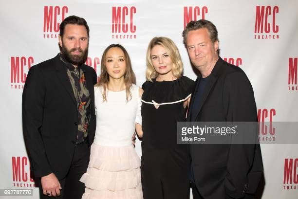 Quincy DunnBaker Sue Jean Kim Jennifer Morrison and Matthew Perry attend the 'The End Of Longing' opening night after party at SushiSamba 7 on June 5...