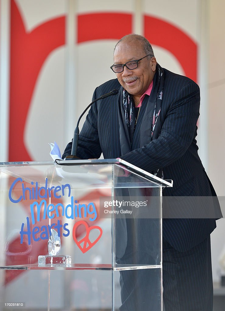<a gi-track='captionPersonalityLinkClicked' href=/galleries/search?phrase=Quincy+Jones&family=editorial&specificpeople=171797 ng-click='$event.stopPropagation()'>Quincy Jones</a> accepts the Lifetime Achievement Award at the 1st Annual Children Mending Hearts Style Sunday on June 9, 2013 in Beverly Hills, California.