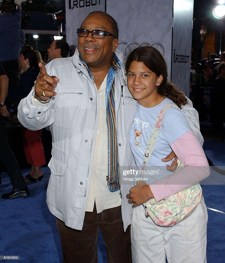 Quincy Jones and daughter Kenya