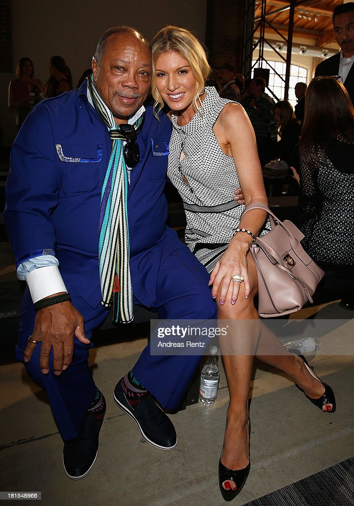 <a gi-track='captionPersonalityLinkClicked' href=/galleries/search?phrase=Quincy+Jones&family=editorial&specificpeople=171797 ng-click='$event.stopPropagation()'>Quincy Jones</a> and <a gi-track='captionPersonalityLinkClicked' href=/galleries/search?phrase=Hofit+Golan&family=editorial&specificpeople=542603 ng-click='$event.stopPropagation()'>Hofit Golan</a> attend the Missoni show as part of Milan Fashion Week Womenswear Spring/Summer 2014 at on September 22, 2013 in Milan, Italy.