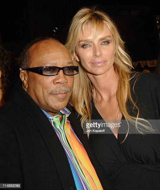 Quincy Jones and Kimberly Conrad Hefner during 'Get Rich Or Die Tryin'' Los Angeles Premiere Arrivals at Grauman's Chinese Theater in Hollywood...