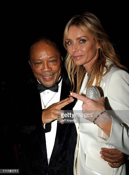 Quincy Jones and Kimberly Hefner during The 77th Annual Academy Awards Governors Ball at Kodak Theatre in Los Angeles California United States