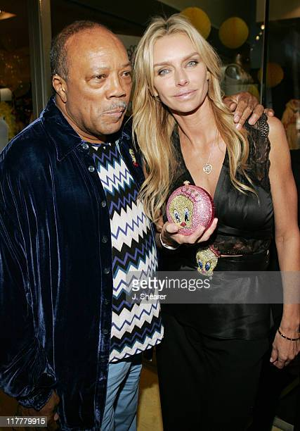 Quincy Jones and Kimberly Hefner during Tweety 'Natural Blonde' Shopping Party and Clothing Launch Yellow Carpet at Kitson in Beverly Hills...