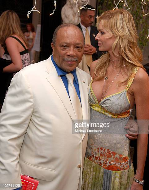 Quincy Jones and Kimberly Hefner during Usher Hosts a Fundraiser for His New Look Foundation at Capitale in New York City New York United States