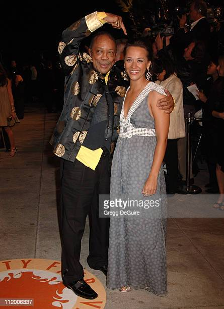 Quincy Jones and Rashida Jones during 2007 Vanity Fair Oscar Party Hosted by Graydon Carter Arrivals at Mortons in West Hollywood California United...