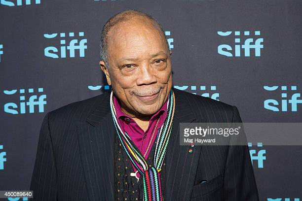 Quincy Jones arrives at the screening of the film 'Keep on Keepin On' before receiving the Seattle International Film Festival Lifetime Achievement...