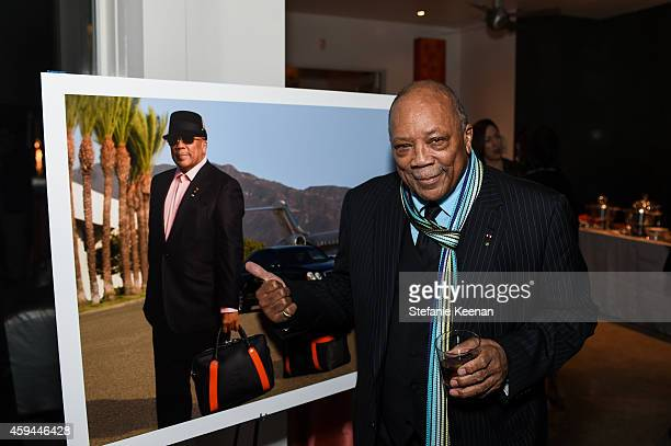 Quincy Jones attends Maybach Icons Of Luxury Quincy Jones Icon Collection on November 22 2014 in Los Angeles California