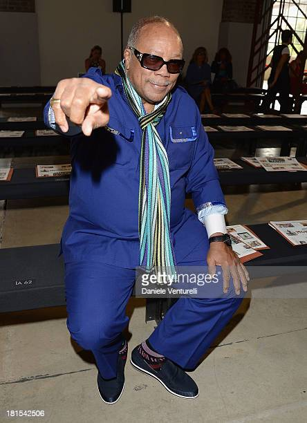 Quincy Jones attends the Missoni show as a part of Milan Fashion Week Womenswear Spring/Summer 2014 on September 22 2013 in Milan Italy