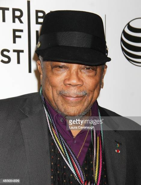 Quincy Jones attends the premiere of 'Keep On Keepin' On' during the 2014 Tribeca Film Festival at BMCC Tribeca PAC on April 19 2014 in New York City