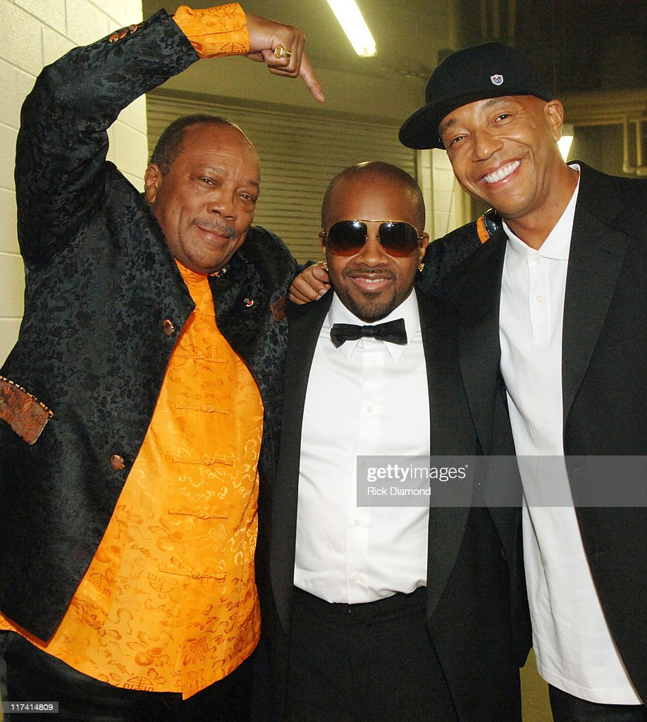 Quincy Jones, Jermaine Dupri and Russell Simmons during 28th Annual Georgia Music Hall of Fame Awards - September 16, 2006 at Georgia World Congress Center in Atlanta, Georgia, United States.