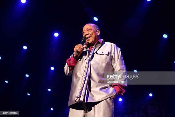 Quincy Jones performs at day two of North Sea Jazz Festival at Ahoy on July 12 2014 in Rotterdam Netherlands