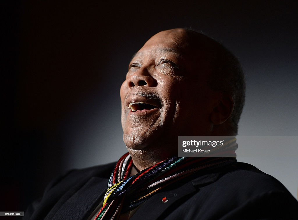 <a gi-track='captionPersonalityLinkClicked' href=/galleries/search?phrase=Quincy+Jones&family=editorial&specificpeople=171797 ng-click='$event.stopPropagation()'>Quincy Jones</a> presents onstage at the GRAMMY P&E Wing Event Honoring <a gi-track='captionPersonalityLinkClicked' href=/galleries/search?phrase=Quincy+Jones&family=editorial&specificpeople=171797 ng-click='$event.stopPropagation()'>Quincy Jones</a> And Al Schmitt on February 6, 2013 in Los Angeles, California.