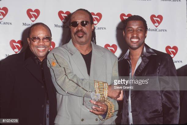 Quincy Jones Stevie Wonder and Kenny 'Babyface' Edmonds