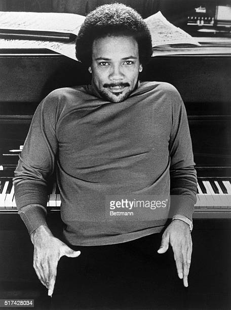 Quincy Jones the recording star and arranger is shown in this photograph