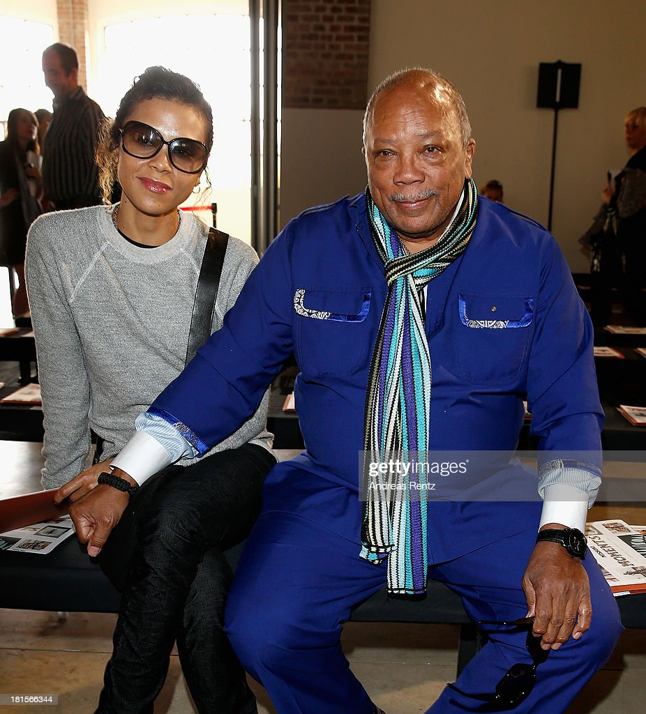 <a gi-track='captionPersonalityLinkClicked' href=/galleries/search?phrase=Quincy+Jones&family=editorial&specificpeople=171797 ng-click='$event.stopPropagation()'>Quincy Jones</a> with his daughter <a gi-track='captionPersonalityLinkClicked' href=/galleries/search?phrase=Kidada+Jones&family=editorial&specificpeople=984902 ng-click='$event.stopPropagation()'>Kidada Jones</a> attend the Missoni show as part of Milan Fashion Week Womenswear Spring/Summer 2014 at on September 22, 2013 in Milan, Italy.