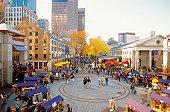 Quincy Market in Boston, Massachusetts, USA