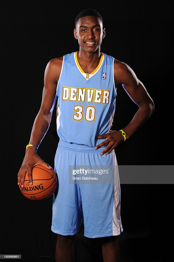 Quincy Miller of the Denver Nuggets poses for a portrait during the 2012 NBA rookie photo shoot on August 21, 2012 at the MSG Training Facility in Tarrytown, New York.