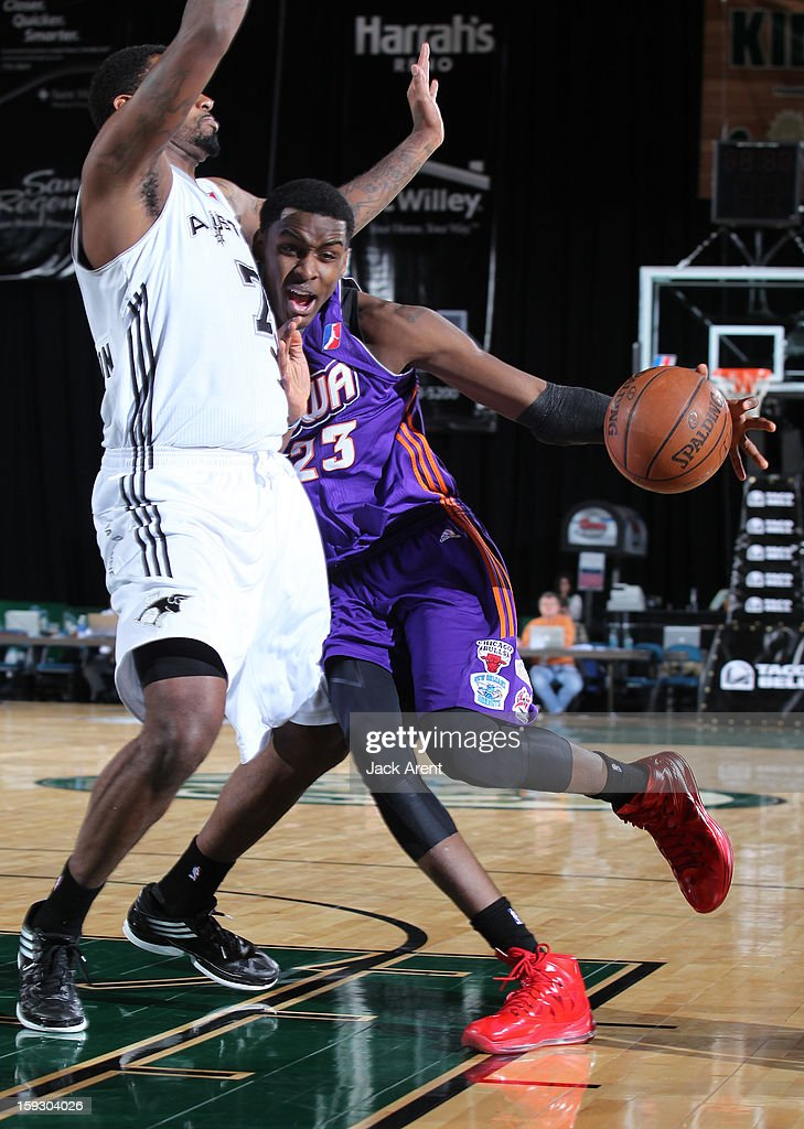 Quincy Miller #23 of the Iowa Energy dribbles the ball against the Austin Toros during the 2013 NBA D-League Showcase on January 10, 2013 at the Reno Events Center in Reno, Nevada.