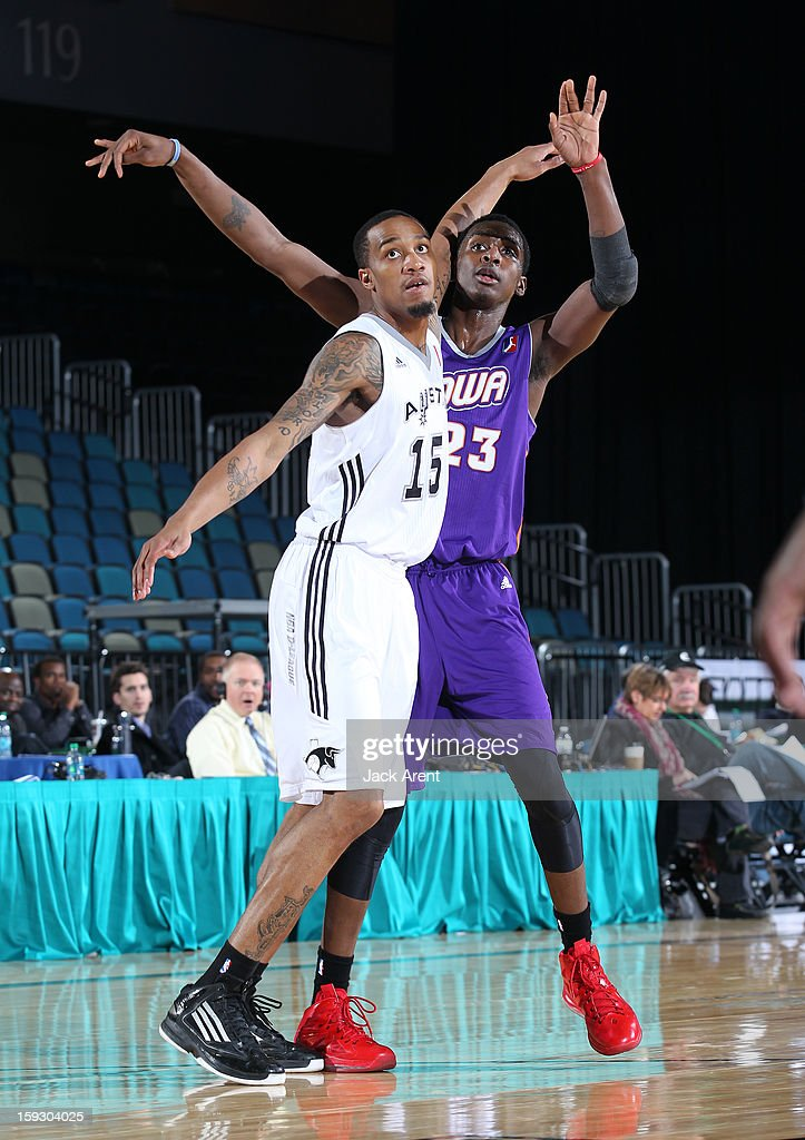 Quincy Miller #23 of the Iowa Energy shoots the ball over Patrick Sullivan #15 of the Austin Toros during the 2013 NBA D-League Showcase on January 10, 2013 at the Reno Events Center in Reno, Nevada.