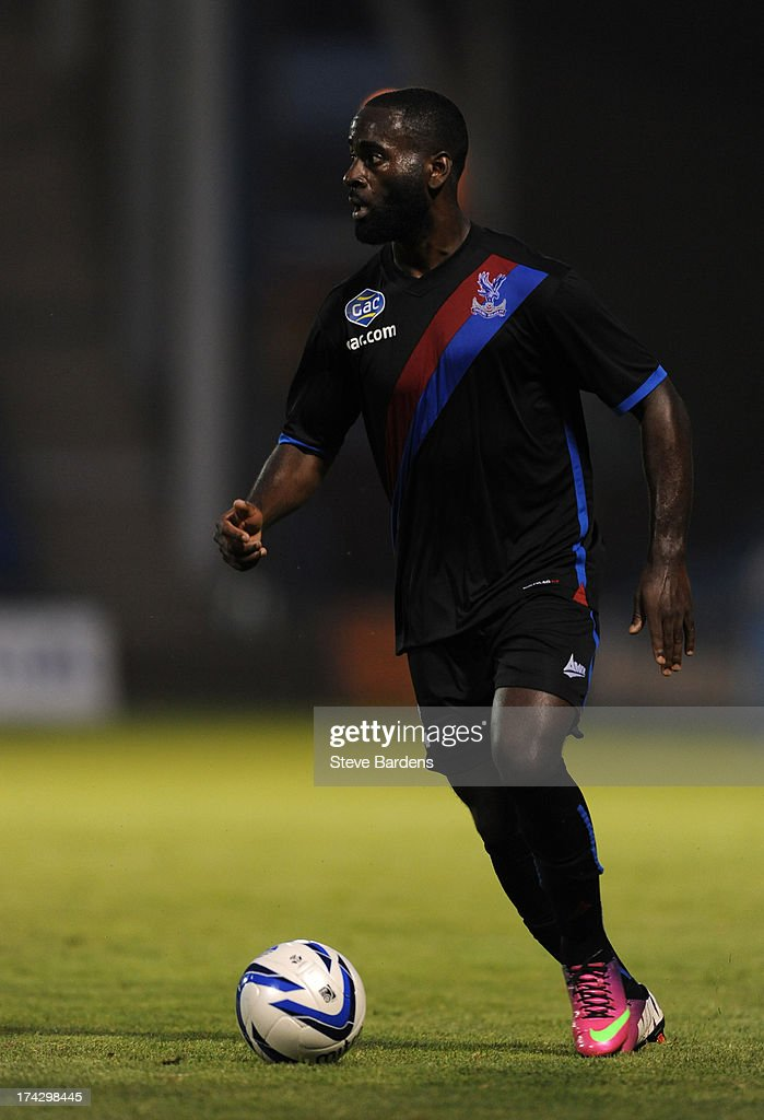 Quincy Owusie-Abeyie of Crystal Palace in action during the pre season friendly match between Gillingham and Crystal Palace at Priestfield Stadium on July 23, 2013 in Gillingham, Medway.