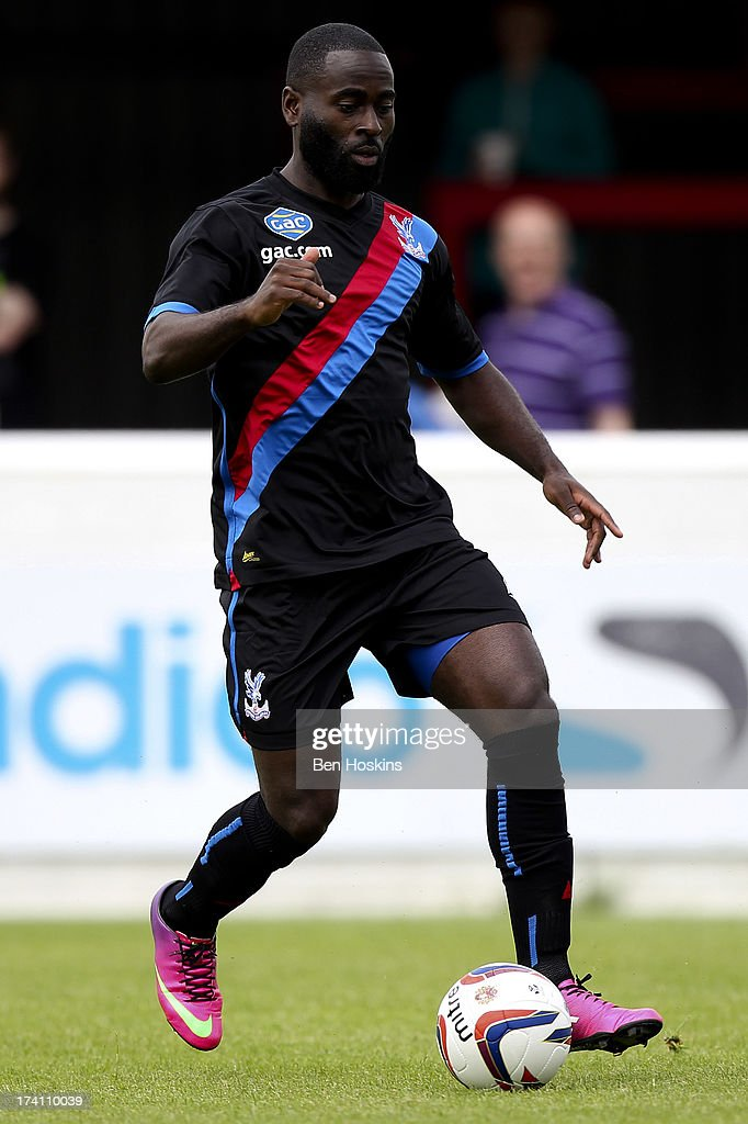 Quincy Owusu-Abeyie of Crystal Palace in action during a pre season friendly match between Dagenham and Redbridge and Crystal Palace at The London Borough of Barking and Dagenham Stadium on July 20, 2013 in Dagenhm, England.