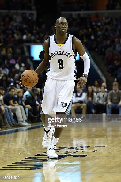 Quincy Pondexter of the Memphis Grizzlies brings the ball up court during a game against the San Antonio Spurs at the FedExForum on December 30 2014...