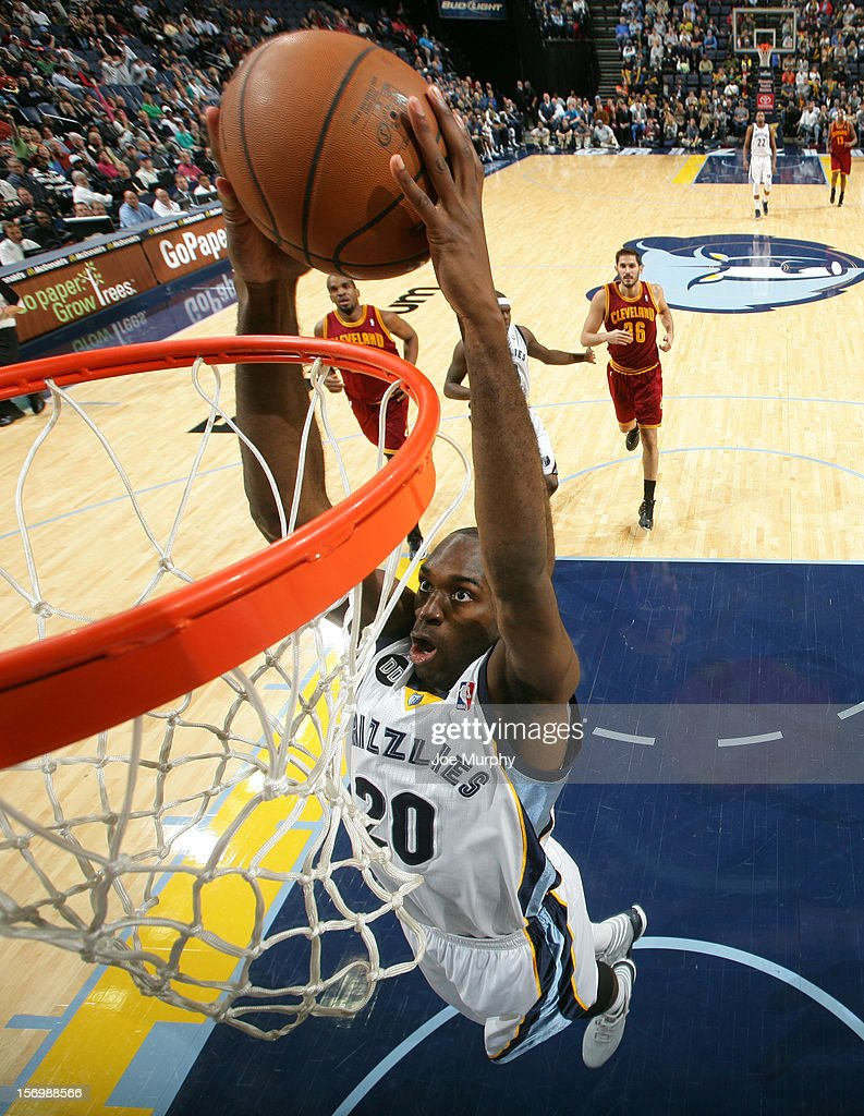 <a gi-track='captionPersonalityLinkClicked' href=/galleries/search?phrase=Quincy+Pondexter&family=editorial&specificpeople=4176540 ng-click='$event.stopPropagation()'>Quincy Pondexter</a> #20 of the Memphis Grizzlies dunks against the Cleveland Cavaliers on November 26, 2012 at FedExForum in Memphis, Tennessee.