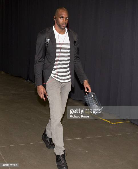 Quincy Pondexter of the Memphis Grizzlies enters the arena before a game against the Oklahoma City Thunder in Game 7 of the Western Conference...
