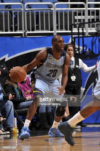 Quincy Pondexter of the Memphis Grizzlies handles the ball against the Orlando Magic on March 3 2013 at Amway Center in Orlando Florida NOTE TO USER...
