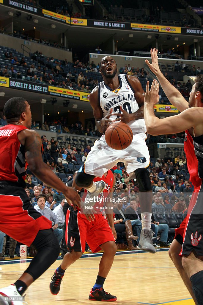 <a gi-track='captionPersonalityLinkClicked' href=/galleries/search?phrase=Quincy+Pondexter&family=editorial&specificpeople=4176540 ng-click='$event.stopPropagation()'>Quincy Pondexter</a> #20 of the Memphis Grizzlies is stripped of the ball by the Toronto Raptors on October 26, 2012 at FedExForum in Memphis, Tennessee.