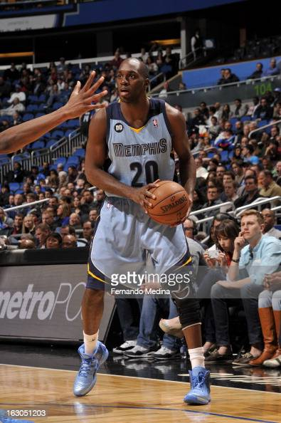 Quincy Pondexter of the Memphis Grizzlies looks to pass the ball against the Orlando Magic on March 3 2013 at Amway Center in Orlando Florida NOTE TO...