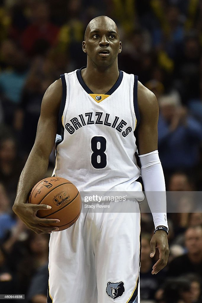 Quincy Pondexter of the Memphis Grizzlies reacts to an officials call during a game against the San Antonio Spurs at the FedExForum on December 30...