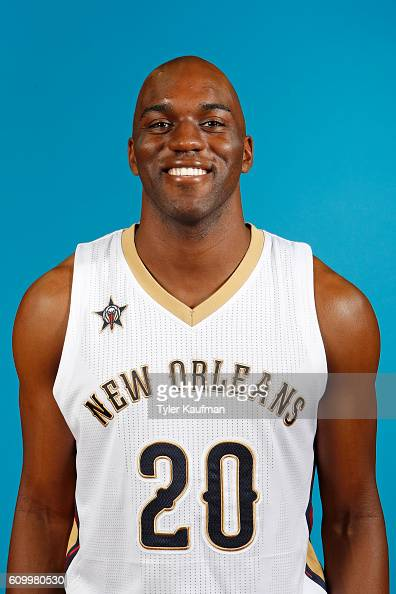 Quincy Pondexter of the New Orleans Pelicans poses for a head shot during the 20162017 NBA Media Day on September 23 2016 at the Smoothie King Center...