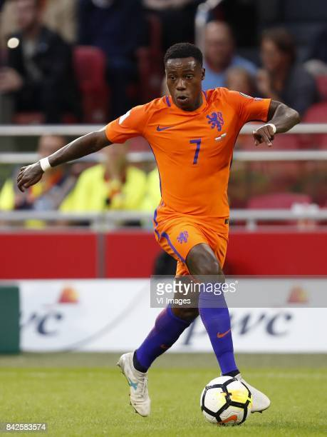 Quincy Promes of Holland during the FIFA World Cup 2018 qualifying match between The Netherlands and Bulgariaat the Amsterdam Arena on September 03...